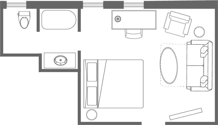 The <span>Barker</span> Room Floorplan