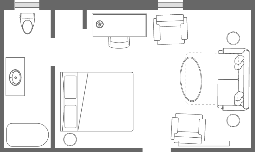 The <span>Hildreth</span> Room Floorplan