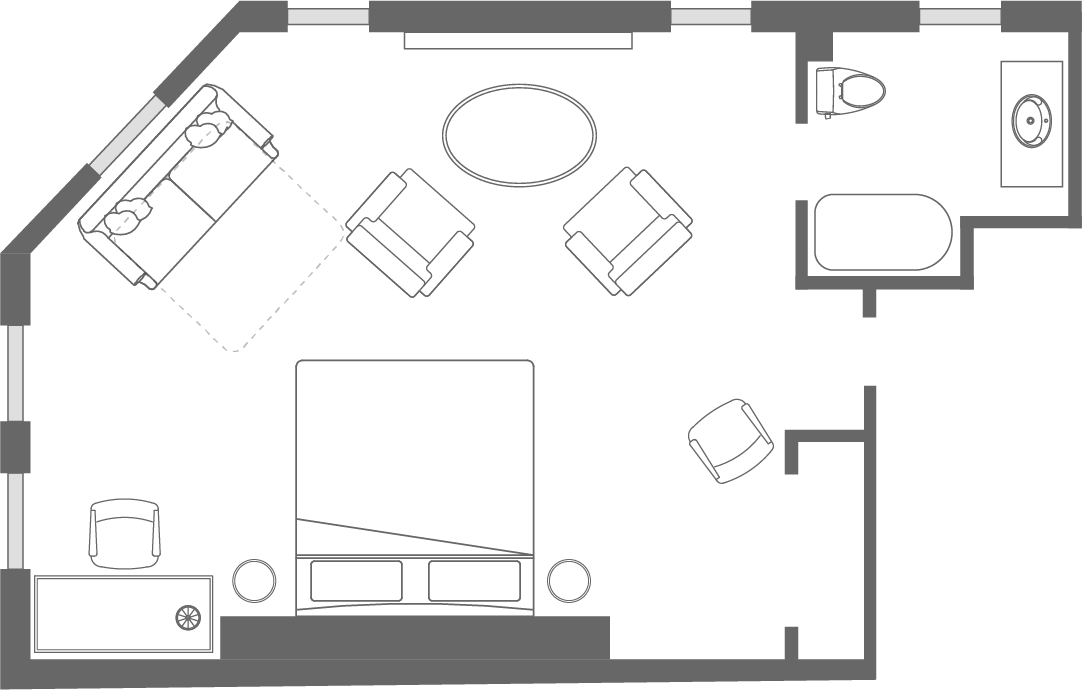 The <span>Riley</span> Suite Floorplan