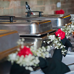 buffet for wedding reception